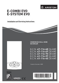 Boiler manuals ariston e system evo 30 e combi e system evo installation and servicing guide view manual asfbconference2016 Images