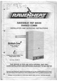 Boiler Manuals Ravenheat Rsf 820 20