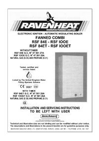 Boiler Manuals Ravenheat Rsf 84et
