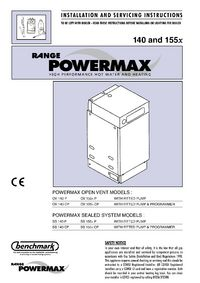 Boiler manuals: range powermax 155 fss.