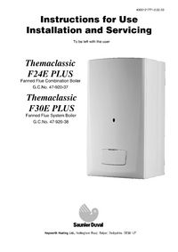 boiler manuals saunier themaclassic f30e plus rh plumbase co uk  saunier duval thema classic manual instalacion