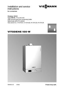 boiler manuals viessmann vitodens 100 wb1b 26kw. Black Bedroom Furniture Sets. Home Design Ideas